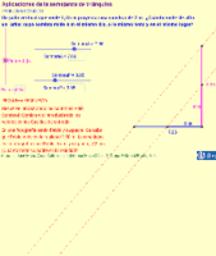 Aplicaciones de la semejanza de triángulos