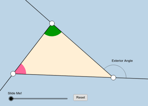 Triangle Exterior Angle Geogebra