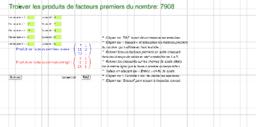 Exercices-Produit de nombres premiers
