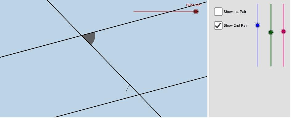 Alternate interior angles Press Enter to start activity