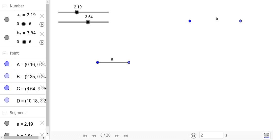 Lijnstuk vermenigvuldigen Klik op Enter om de activiteit te starten