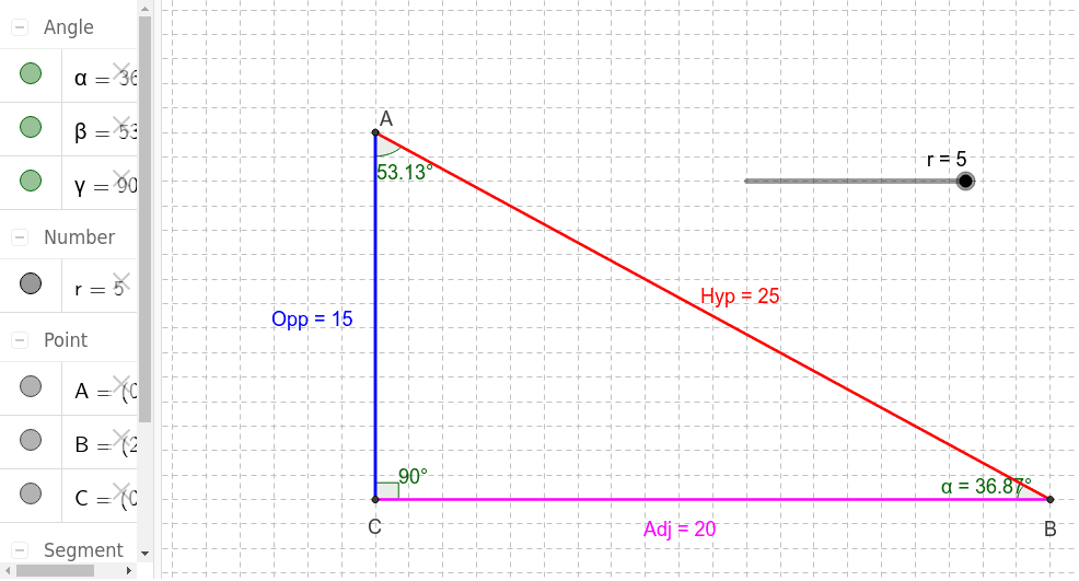 Move the slider and calculate the trig ratios from SOH CAH TOA Press Enter to start activity