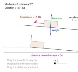 MEI Mechanics 1 January '07 question 7b