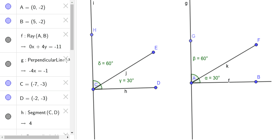 Change the smaller acute angles to a new measure.  See how the larger acute angles respond.  Keep the smaller acute angles with equal measures.