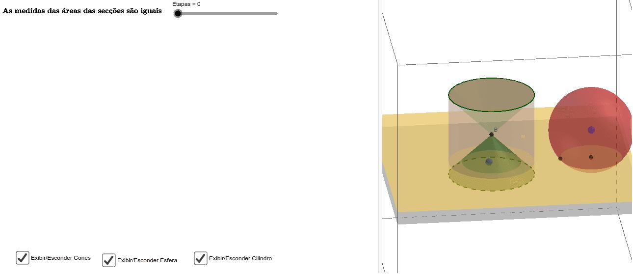 Justificativa para as secções com mesma área
