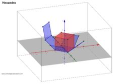 Hexaedro planificado e animado