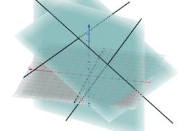 Euclidea spazio - teorema 3 perpendicolari