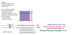 One or Two Percent (or fraction) Changes (& Compound Effect)