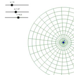 同心圓和線段-2(最外圓大小固定)