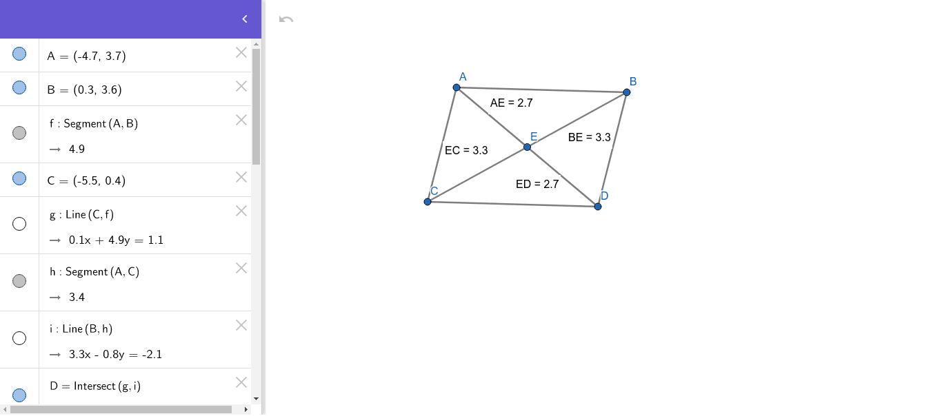 Diagonals of Parallelograms Press Enter to start activity