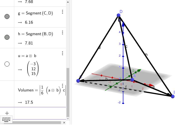Volumen de un tetraedro Press Enter to start activity