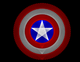 String art ex4. Captain America Shield