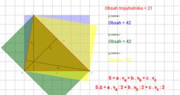 Obsah trojuholníka.
