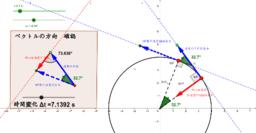 円運動の速度変化と加速度