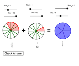 Add Fractions using Area models