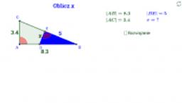 Podobieństwo trójkątów