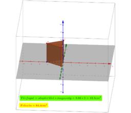 Háromszög alapú hasáb testhálója