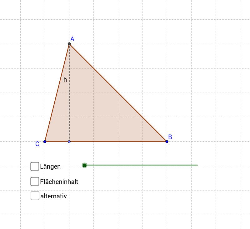 Flächeninhalt Dreieck über Parallelogramm