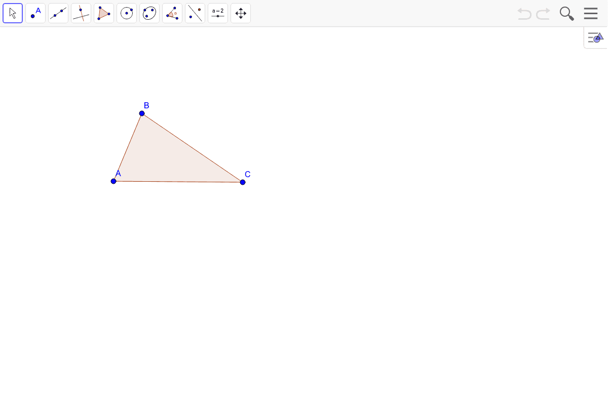 1) Construct the circumcenter of this triangle. Then draw the appropriate circle.