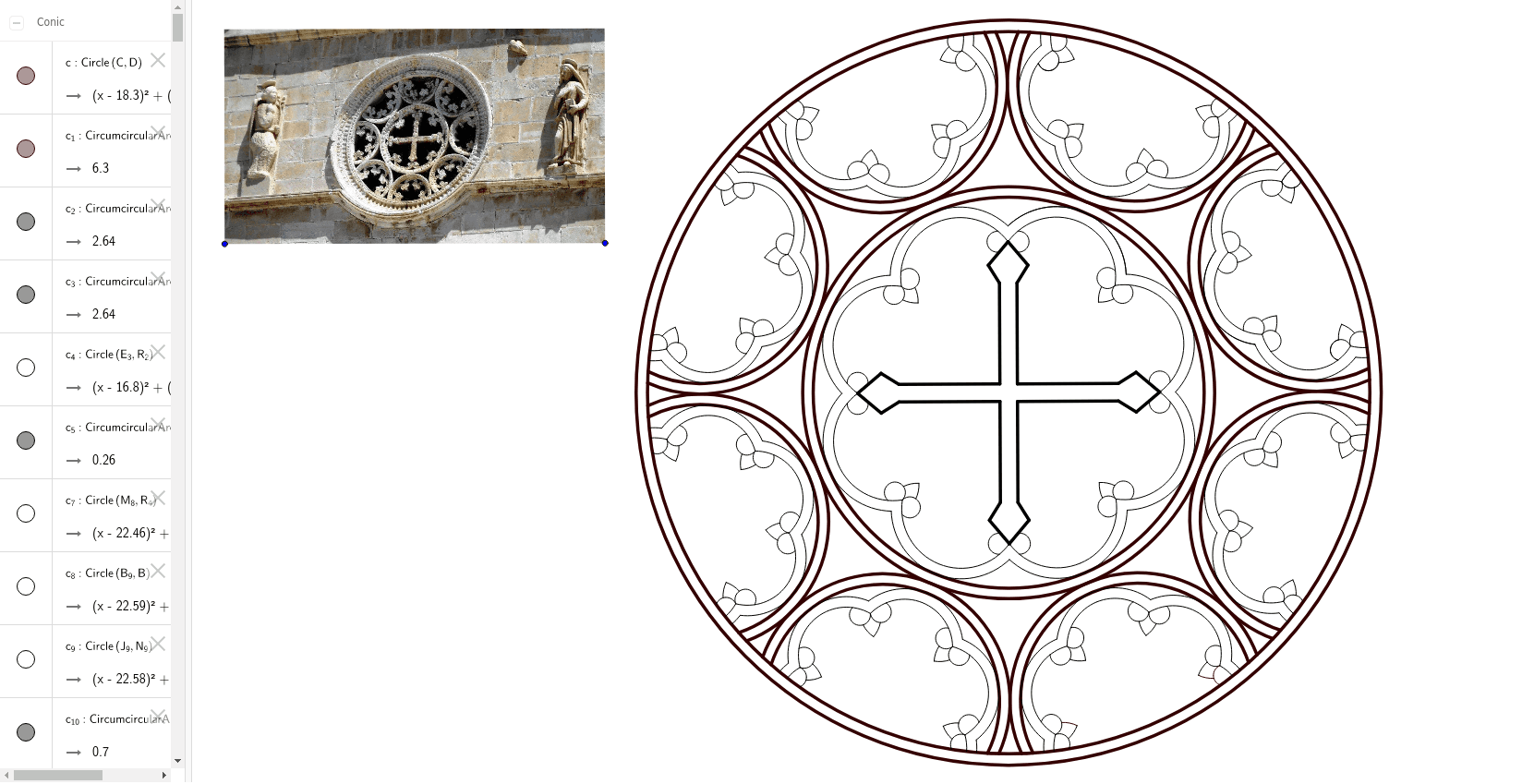 The  Rosette on the  Church of the Assumption of Mary , Pag, Croatia