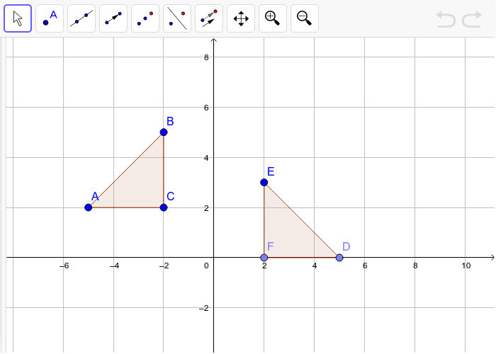Are the triangles congruent? Justify your answer by mapping triangle ABC onto triangle DEF.