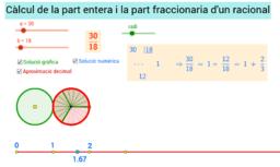 Part entera i fraccionària d'un nombre