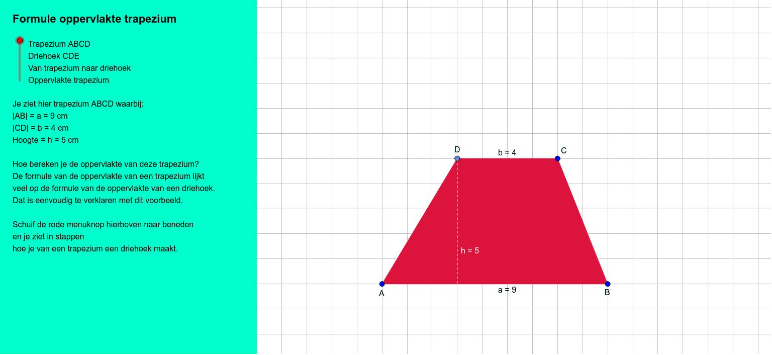 Deze Geogebra is gemaakt door Debbie Alink en Jan Wilco Geijtenbeek in opdracht van de hogeschool Rotterdam. Klik op Enter om de activiteit te starten