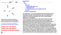 zentrisch gedrehter Text in einer Listenverarbeitung