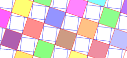Pythagorean Theorem by Tessellation # 34 Tiling