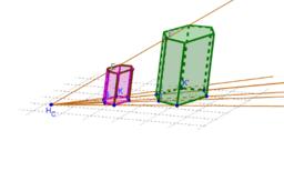 Homotecia 3D prisma oblicuo