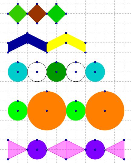 Prøv om du kan tegne disse mønsterrækker.