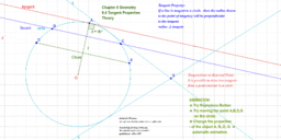 MATHEMATICS and Geometry 9 : 8.4 Tangent Properties: Theory