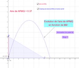 DM n°3 : Etude de l'aire d'un quadrilatère.