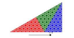 Rep-Tile à trois triangles