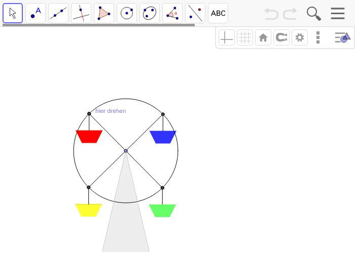 Zeichne dein funktionierendes Riesenrad.