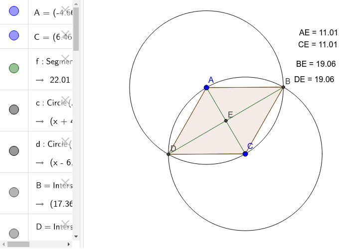 2c: Construction of a quadrilateral with bisecting diagonals.