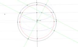 Gömb ábrázolása párhuzamos vetítésben