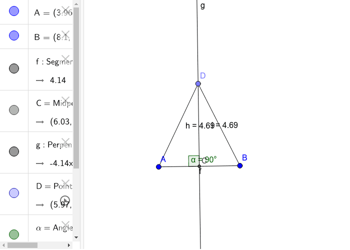 Perpendicular Bisector Theorem: If a point is on the perpendicular bisector of a segment, then it is equidistant from the endpoints of that segment.