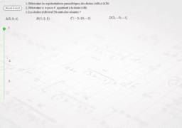 Représentation paramétrique de droites dans l'espace