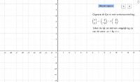 Vectorvoorstelling en vergelijking lijn
