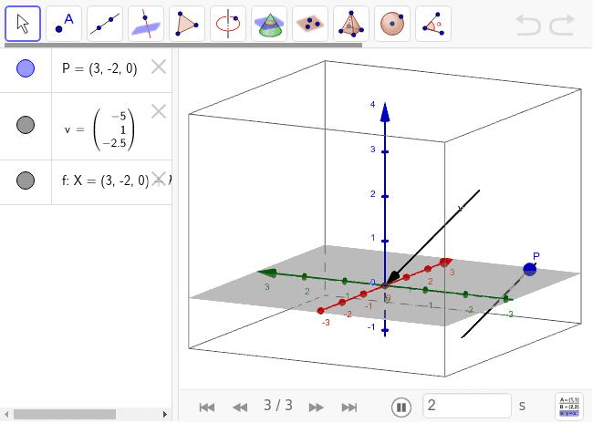 En GeoGebra puedes ir paso por paso para ver cómo se crean los objetos