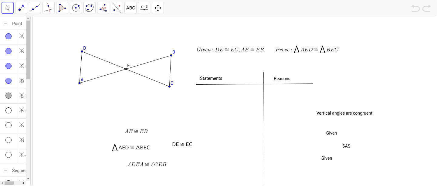 worksheet Proving Angles Congruent Worksheet scrambled proof 1 proving triangles congruent by sas geogebra applet