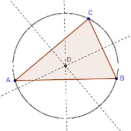 De omgeschreven cirkel aan een driehoek