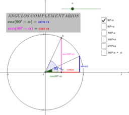 Relación de ángulos con el primer cuadrante