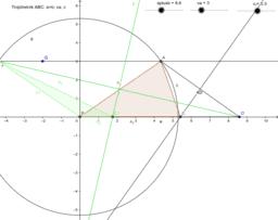 Trojúhelník ABC: a+b, va, c 2