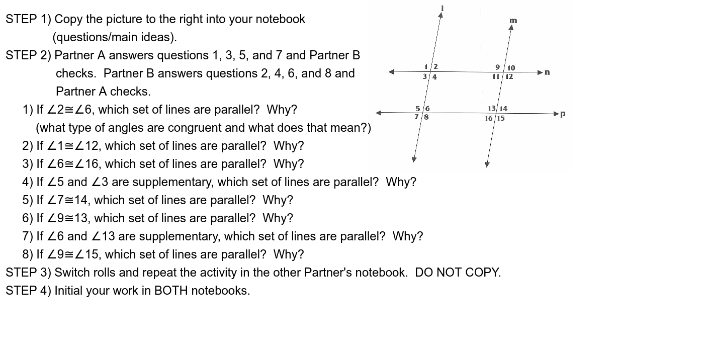 Complete the following activity with a partner in your notebook. Press Enter to start activity