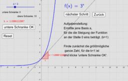Exponentialfunktion zur Basis e