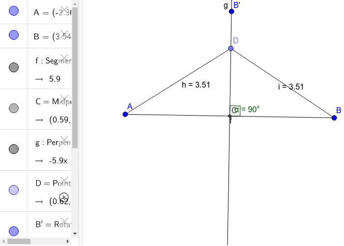 Perpendicular Bisector Theorem