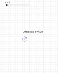 Cirklens omkreds og radius - undersøgelse