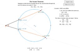 The Secant Theorem